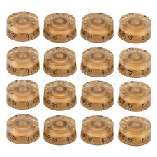 Electric Guitar Speed Control Knobs for Guitar Parts Replacement  Gold 16 Pcs