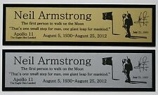Neil Armstrong Astronaut Apollo 11 Nameplate for signed photo