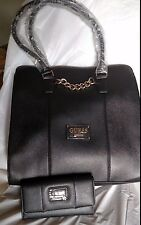 AUTHENTIC NEW NWT GUESS LOCKPORT SAFFIANO TOTE HANDBAG PURSE & WALLET