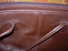 "COACH LEATHER BAG--17"" X 12"" + 13"" HANDLES-REDUCED 2X-#S1"