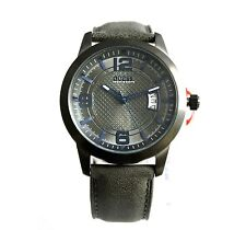 New Guess W0494G5 Gunmetal Dial, Date Dark Grey Leather Band Men Watch