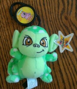 2005 Neopets McDonald's SPECKLED MYNCI Plush w/Star Tag, Meepit Petpet clip