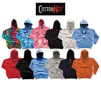 CottonNet Sweatshirt Premium Pullover Fleece Jacket Hoodie Pouch Pocket S-2X