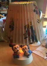 MICKEY AND MINNIE MOUSE BABIES VINTAGE LAMP WITH LAMP SHADE