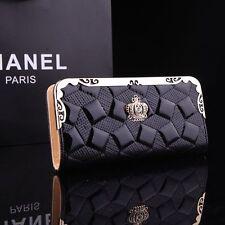 100% New Fashion Women Patent Leather Clutch Wallet Long PU Card Purse Handbag