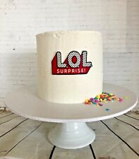 LOL doll Cake Topper Edible Image Icing printed topper GF Vegan Easy To apply