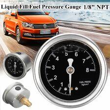 Car AUTO Fuel Pressure Regulator 1/8'' NPT 0-8Kg /Cm² Liquid Fill Oil Gauge