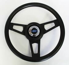 "Maverick Torino Galaxie LTD Grant Black Steering Wheel Black Spokes 13 3/4"""