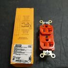 HUBBELL ORANGE DUPLEX RECPTACLE (IG5362) qty 6
