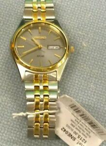 New Working Seiko Solar Men's Wristwatch SNE042