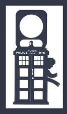 Doctor Who 4th Doctor TARDIS Tom Baker Door Knob Hanger Dark Blue Plastic Sign