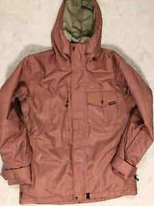 PLANET EARTH MEN'S SNOWBOARDING JACKET RED STRIPE COCONA TECHNOLOGY SIZE L NEW