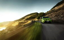 """FORD FOCUS RS GREEN A4 POSTER GLOSS PRINT LAMINATED 11.7""""x7.3"""""""