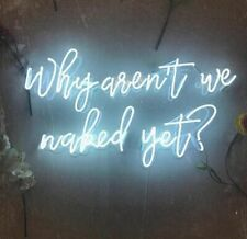 Why Are Not We Naked Yet Neon Sign Acrylic Light Artwork Decor With Dimmer