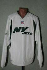New York Jets NFL Reebok Jacket Jersey Size L White Green Pullover Mens Adult