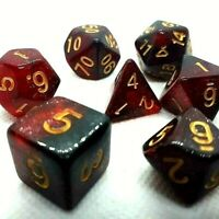 RPG Würfel Set 7-teilig Poly Tabletop DnD Rot dice4friends w4-w20 Rollenspiel