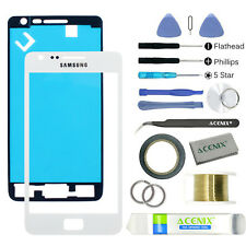 Samsung Galaxy S2 i9100/ i9105 Front Glass Screen Replacement Repair Kit WHITE