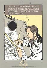 Affiche Sérigraphie Jacobs Blake et Mortimer Plan de L'Espadon 35x50