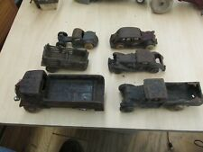 Vintage Cast Iron Toy Cars & Trucks Lot of 6