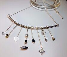 Very Nice Modernist Vintage Silber 925 Necklace Collier Designer very Rare