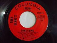 Tony Bennett Something / Eleanor Rigby 45 Columbia Beatles Vinyl Record