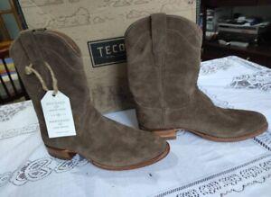 Tecovas Boots Men Suede Gray Western Shoes 1009 sz. us 10 D