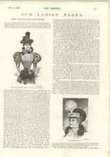 1896 Miss Fay Davies Moda Sombrero en forma de barco