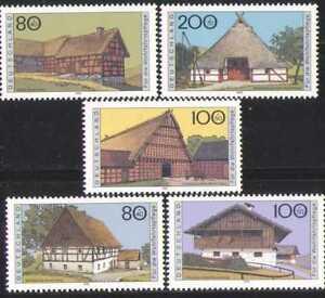 Germany 1995 Farmhouses/Buildings/Architecture/Welfare 5v n28297