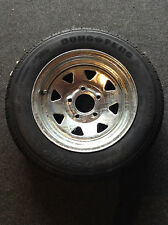 "13"" Spare Wheel, Galvanised, New Tyre/Rim (Suits Boat, Box and Car Trailer)"