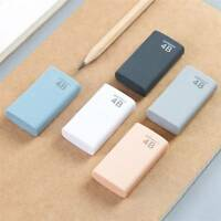 2pcs/lot Mini 4B Eraser Pencil Eraser Kids Student Stationery Write Cleaner Tool