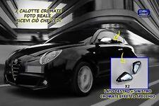 Specchietti Alfa Mito Calotte Cromate Romeo kit tuning specchio retrovisori per