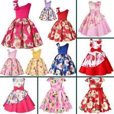 Bebé Niño Tutú De Dama De Honor Vestido Formal Fiesta Princesa Flores Niña Vestidos Boda