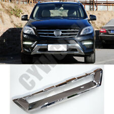 Front Bumper Lower Chrome Cover Fit Mercedes-Benz ML ML350/500 2012 to 15 Trim