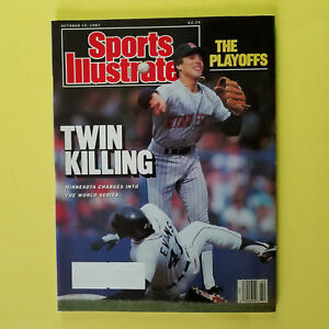 SPORTS ILLUSTRATED -OCTOBER 19, 1987 - WORLD SERIES - GREAT FOR AUTOGRAPHS