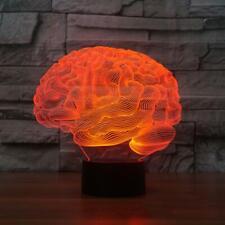 3D Illusion Light Gehirnform 7 Farbwechsel Touch LED Nachtlicht Tischlampe