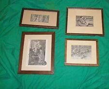ANTQ PRINT ART LITTLE WOMEN FRANK MERRILL FRAMED ILLUSTRATION LOUISA ALCOTT BOOK