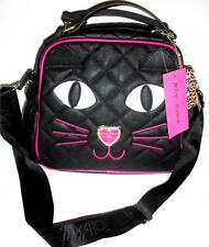 Betsey Johnson Cat Face Insulated Tote Lunch Box Bag Purse Keep Food Cool/Hot