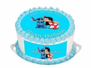 Cake Topper Birthday Lilo & Stitch personal Rice paper,Icing fondant Sheet 88