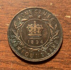 1894 Newfoundland one cent - high grade