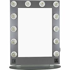 Hiker 12 Dimmer Light Piece Body and Glass Base Hollywood Vanity Makeup Wall Mou