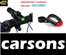 front light 1200 lumen & rear solar light - bike lights set kit - small bright