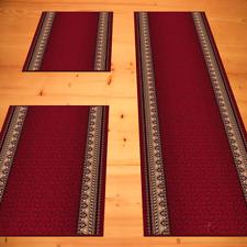 Bettumrandung Klassisch Rot 3 teilig 2x 67 x 140  1x 67 x 340 Schlafzimmer
