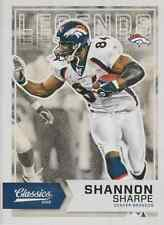 Shannon Sharpe 2016 Panini Classics red back Legends insert card 153