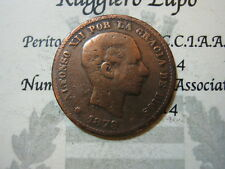 SPAGNA SPAIN 5 Centimos 1879 ( bronze) vg KM 674