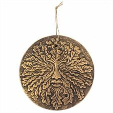 Green Man of the Woods Copper effect Plaque Pagan Wicca Symbol Garden Wall Decor