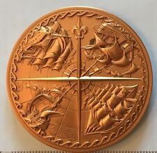 Aloft and Unfurl Sailing Ship Horse Calendar Medal Medallion 1979 Marcel Jovine