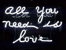 """New All You Need Is Love White Decor Beer Pub Acrylic Neon Light Sign 14"""""""