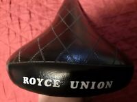 Vintage Oem Royce Union Bicycle Seat / Saddle / No Rips No Tears / Hard To Find