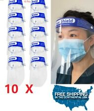 10 Pcs Full Face Shield Reusable Washable Protection Cover Safety Face Mask