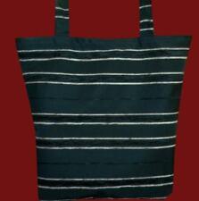 Black Jacquard Tote Shopper Bag 4uni/college/work Unique Stylish Fashionable